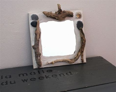 customiser un bureau en bois customiser un miroir esprit bord de mer bois flotté