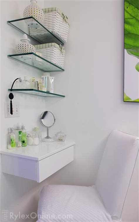 Bathroom Glass Shelves Vanity   Warwick, NY   Rylex Custom