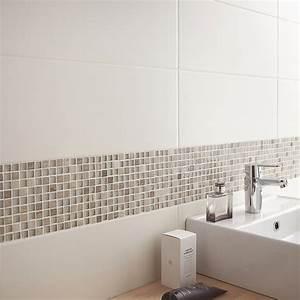 miroir de salle de bain leroy merlin amazing etagere en With carrelage adhesif salle de bain avec panneau led rond