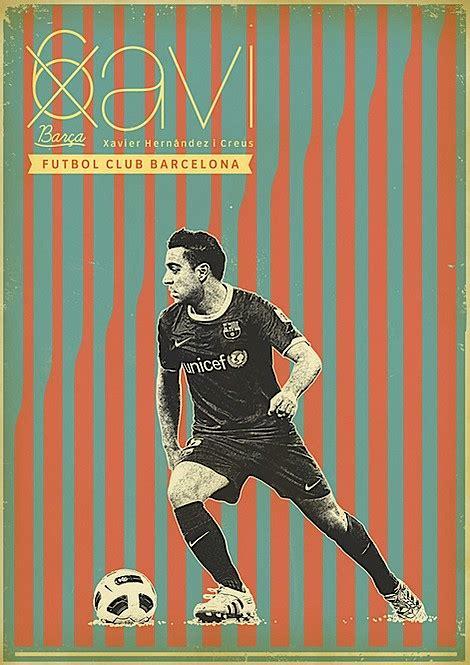 poster retro pemain sepak bola berita  inspirasi