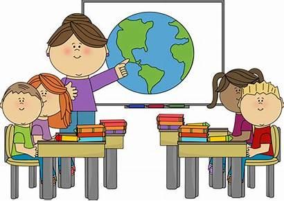 Classroom Teacher Clipart Clip Class Teaching Smartboard