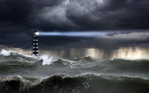 Lighthouse in the storm wallpaper - 755351