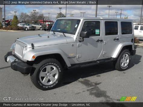 jeep sahara silver bright silver metallic 2012 jeep wrangler unlimited