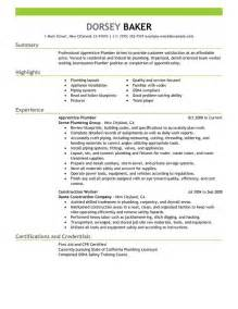 resume for carpenter apprentice apprentice plumber resume sle my resume