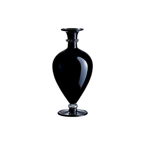 vasi venini vaso tiziano nero in vetro di murano venini