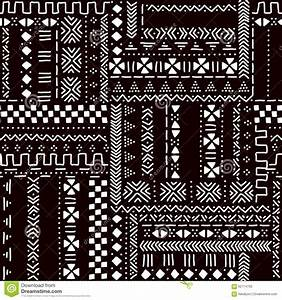 Black And White Traditional African Mudcloth Fabric ...