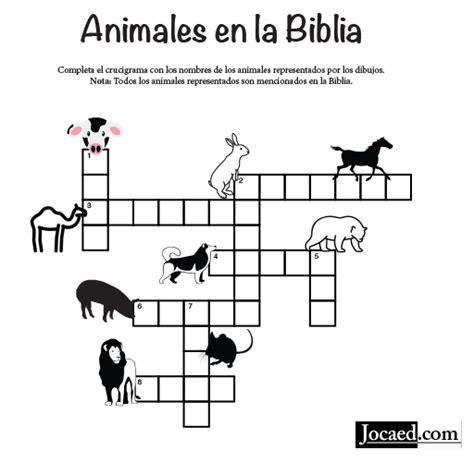 Ejercicio biblico para sociedad de jóvenes. Juego Bíblico: Crucigrama Bíblico — Animales en la Biblia ...