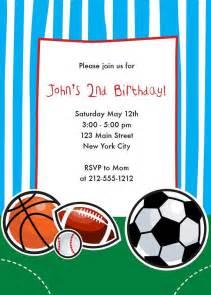 <b>Sports</b> Themed <b>Birthday</b> Invitation-