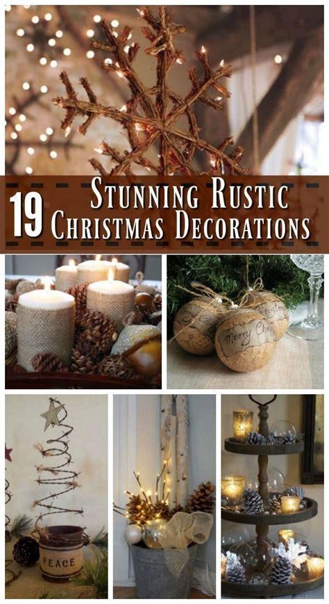 rustic christmas decorations ideas  pinterest