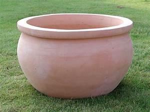 Set De 3 Pots Boules En Terre Cuite Naturelle Destockage