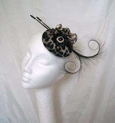 Black Feather Fascinator Elegant Pheasant Curl
