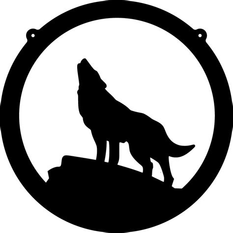 coyote clipart black and white wolf silhouette clipart best