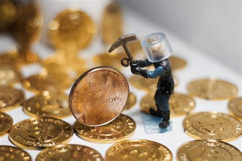 brass dogecoin coin stock image image  bank