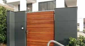 Gartentüren Aus Holz : gartentor aus holz mit grauer mauer mit resopal verkleidet ~ Michelbontemps.com Haus und Dekorationen