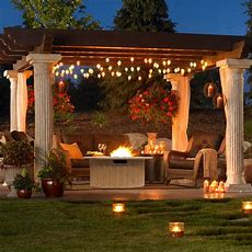 Outdoor Greatroom Tuscan Gas Fire Pit Table  Propane Fire