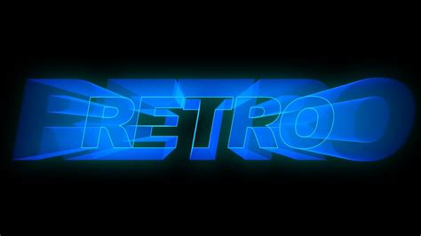 effects tutorial retro text titles youtube