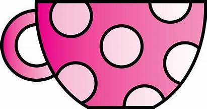 Cup Tea Clipart Teacup Pink Polkadot Clip