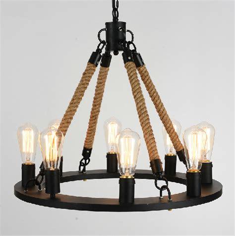 vintage rope filament chandelier buy rope