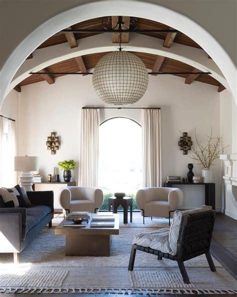 spanish modern living room  disc interiors