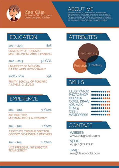 beautiful  resume cv templates  ai indesign
