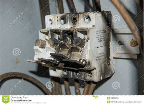 Burnt Breaker Fuse Box by Fuse High Power Voltage Electronic Box Burn Stock