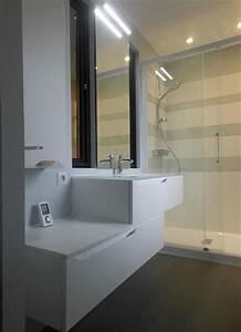 petite salle de bain avec douche et ouvertures sur With petit salle de bain moderne