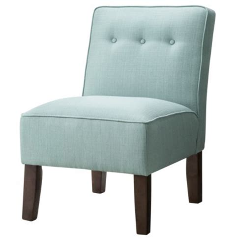 turquoise burke slipper chair with buttons everything
