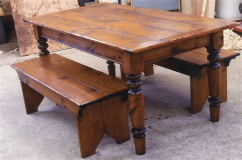 rectangular brown veneer farmhouse table with