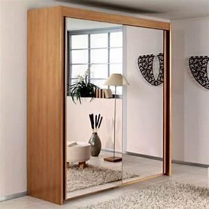 Porte Coulissante Miroir : la porte de dressing coulissante garantit un style moderne ~ Carolinahurricanesstore.com Idées de Décoration