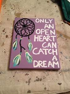 DIY canvas painting with Dreamcatcher! only an open heart