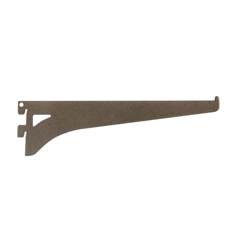 home depot shelf brackets everbilt 8 6 in x 2 3 in bronze single track shelf
