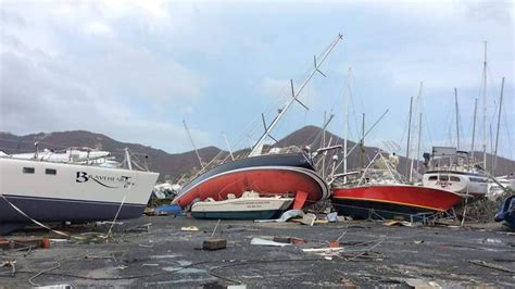 Hurricane Irma Boats Destroyed by Boat Wreckage At Nanny Cay After Irma Passagemaker