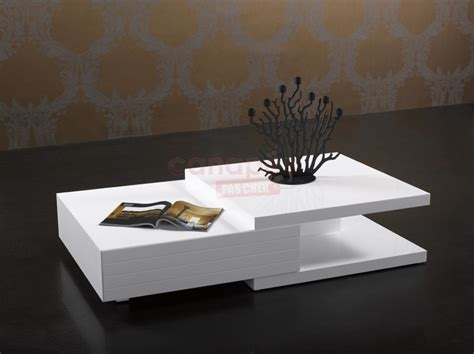 table basse blanc laqu 233 pas cher grande table de salon trendsetter