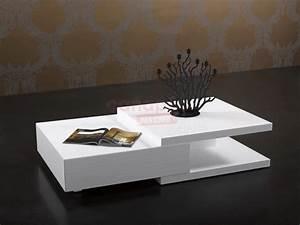 Table Basse Moderne Pas Cher : table basse blanc laqu pas cher grande table de salon trendsetter ~ Teatrodelosmanantiales.com Idées de Décoration