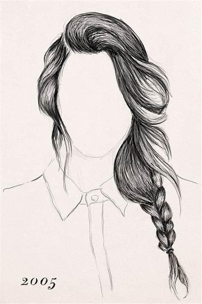 Braid Draw Braids Drawing Easy Braided Sketch