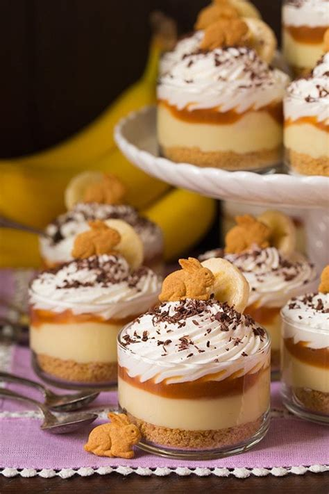 banana cream pie cups  salted caramel sauce cooking