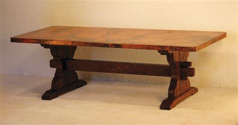 marble and wood dining table farmhouse trestle dining table with wooden base made from