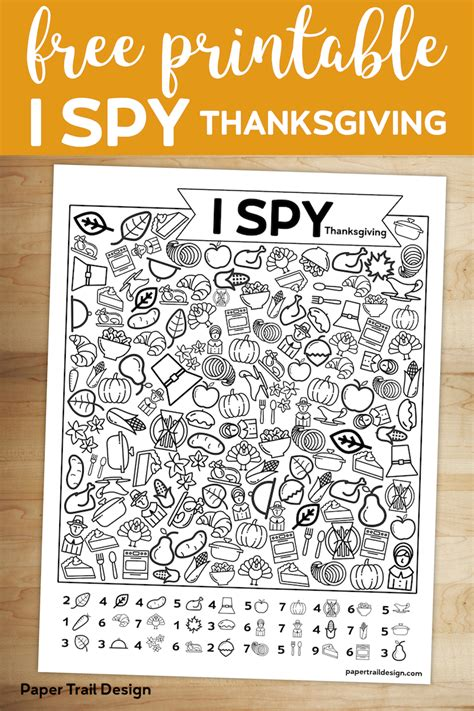 printable  spy thanksgiving activity paper trail
