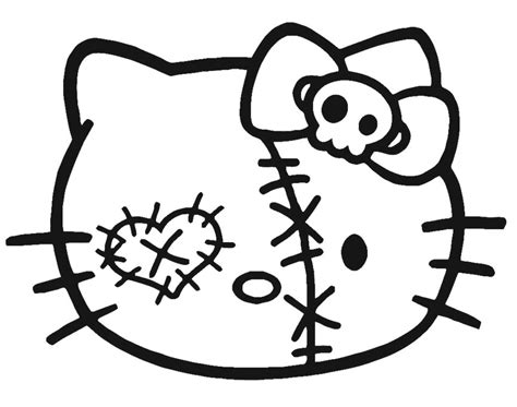 Hello Kitty Zombie Halloween Coloring Pages ? Festival
