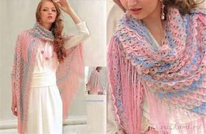 Beautiful Crochet Shawl With Diagrams  U22c6 Crochet Kingdom