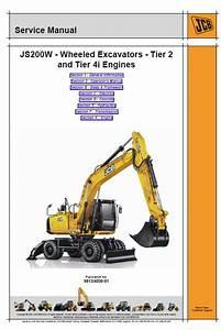 Jcb Js200w Wheeled Excavator Service Manual