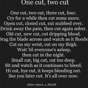 Cutting Poem | `emo~quotes` | Pinterest | Texts, Quote ...