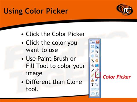 use color picker in paint manipulating graphics w paint net ppt