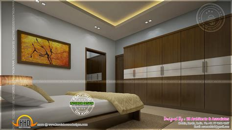 awesome master bedroom interior kerala home design  floor plans