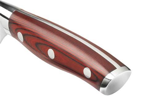 ergo chef crimson series knife block set  piece cutlery