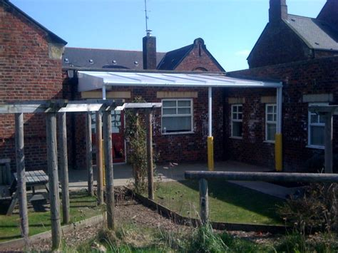 willington primary school wall mounted canopy secure