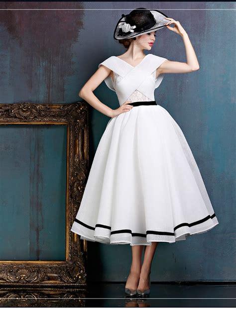 Black And White Midi Vintage Ball Gown