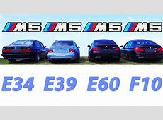 BMW M5 Sound Battle E34 vs E39 vs E60 vs F10 REVS Revving