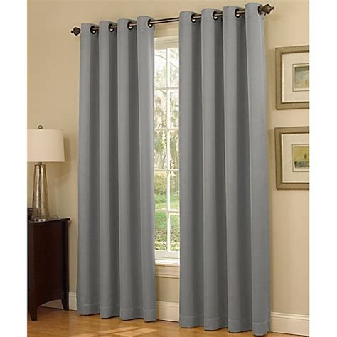 grommet shower curtain insola dorian thermalayer grommet top window curtain panel