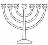Menorah Coloring Colouring Pages Printable Jewish Hanukkah Drawing Holidays sketch template